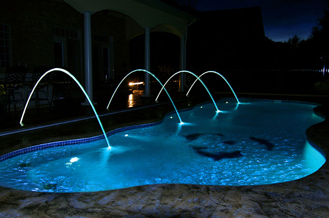 Inground pools at night Stunning Pool At Night 1 Michigan Inground Pools San Juan Pools Of Michigan